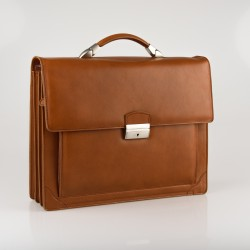 Luxury briefcase with 3 compartments