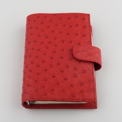 050 - REAL OSTRICH RUBY RED