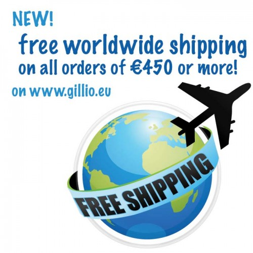 Free worldwide shipping on all orders of €450 and more!