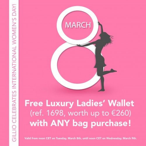 International Womens Day - free wallet with any bag purchase!