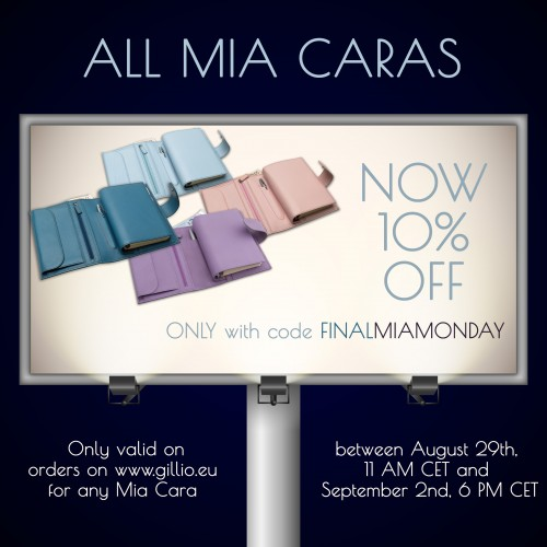 Medium Mia Monday - weekly discount off one selected Medium Mia Cara!