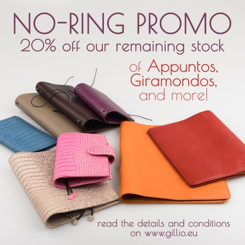 No-Ring Promo: 20% off our leather covers!