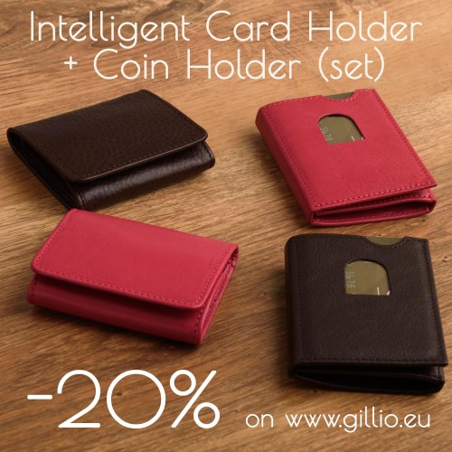 Discounted set: Intelligent Card Holder + Coin Holder!