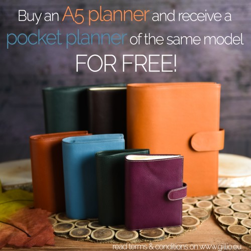 Free pocket planner when you buy an A5!