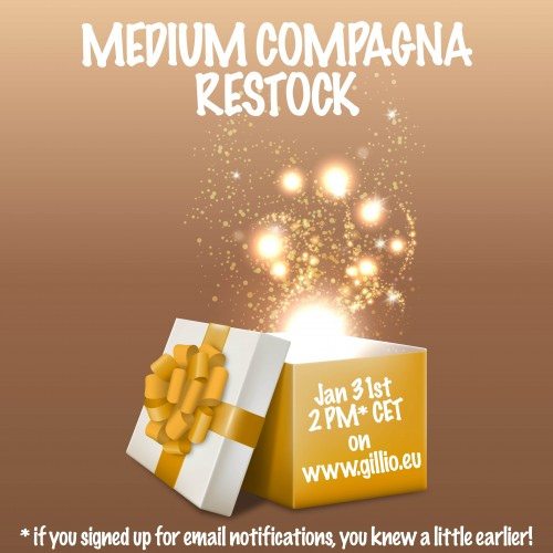 Tuesday Surprise nr.1: restock medium Compagnas!