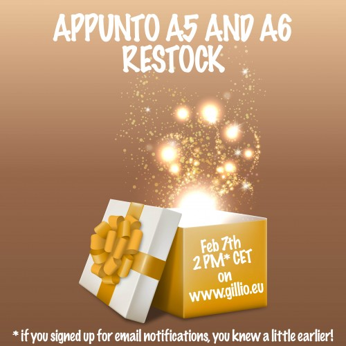 Tuesday Surprise nr. 2: restock Appuntos!