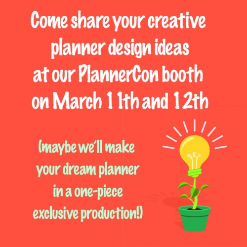 Design your dream organiser at PlannerCon!