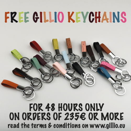 Free keychains with orders of 235€ or more!