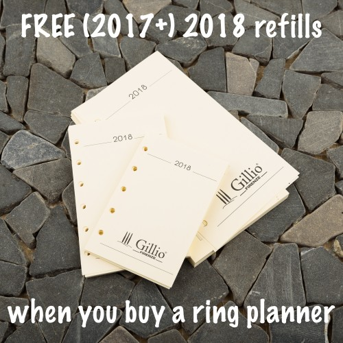 Free (2017+) 2018 refills with your planner!