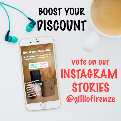BOOST YOUR DISCOUNT on Gillios IG Stories!