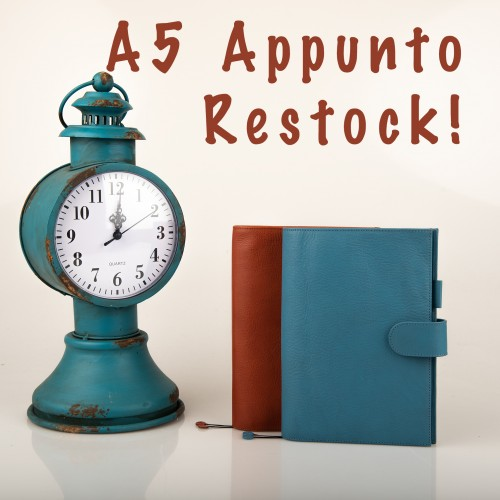 Restock A5 Appunto in Yale Blue and Rust!