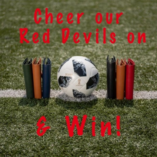 CHEER OUR RED DEVILS ON AND GET 10% DISCOUNT!