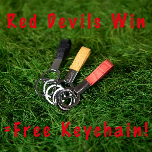 CHEER OUR RED DEVILS ON AND GET FREE KEYCHAIN