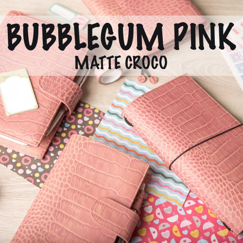 LIMITED EDITION: Croco Matte Bubblegum Pink