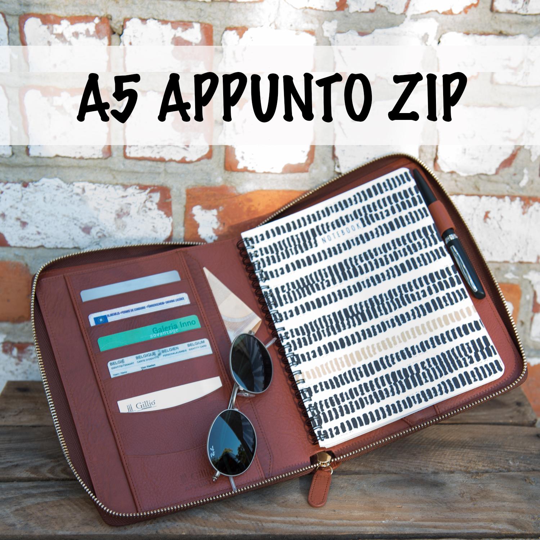 a5 Appunto zip Gillio Leathers zipped planner